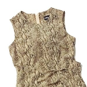 SAG Harbor Dress Long Faux Wrap Snakeskin Dress